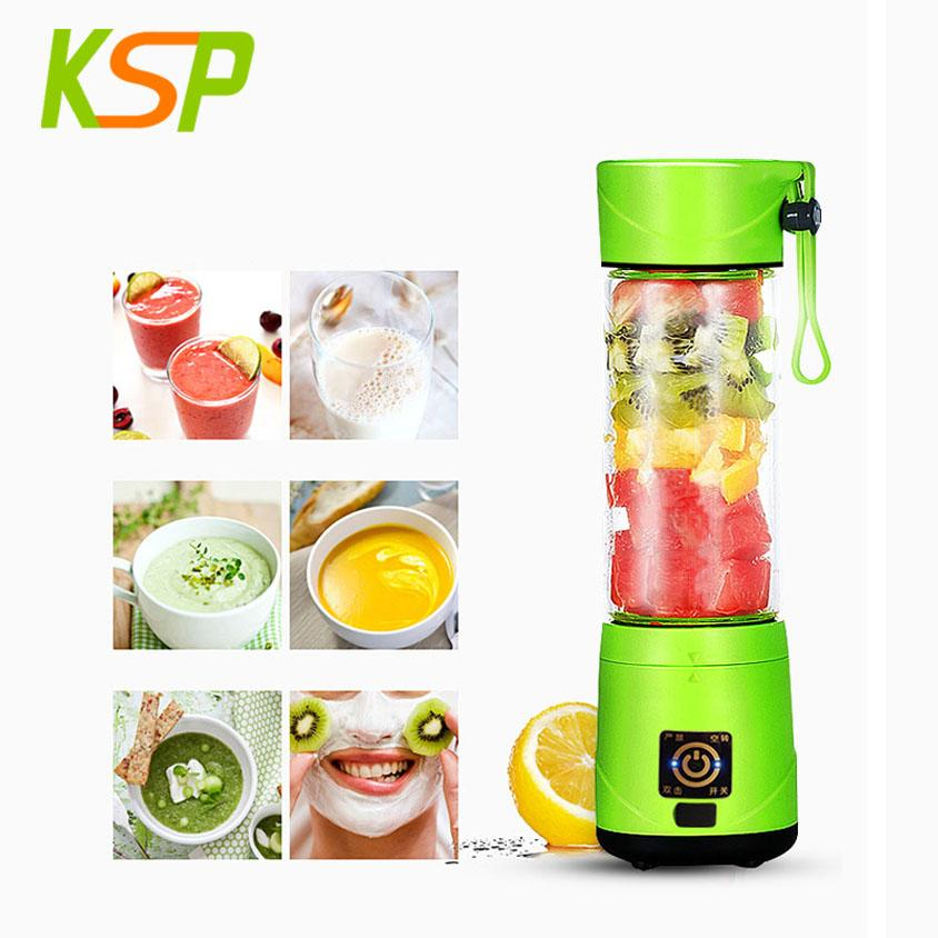 Ice crusher 420ml 4 blades portable rechargeable mini travel blender 1