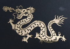 Custom thin metal logo wall stickers home decor