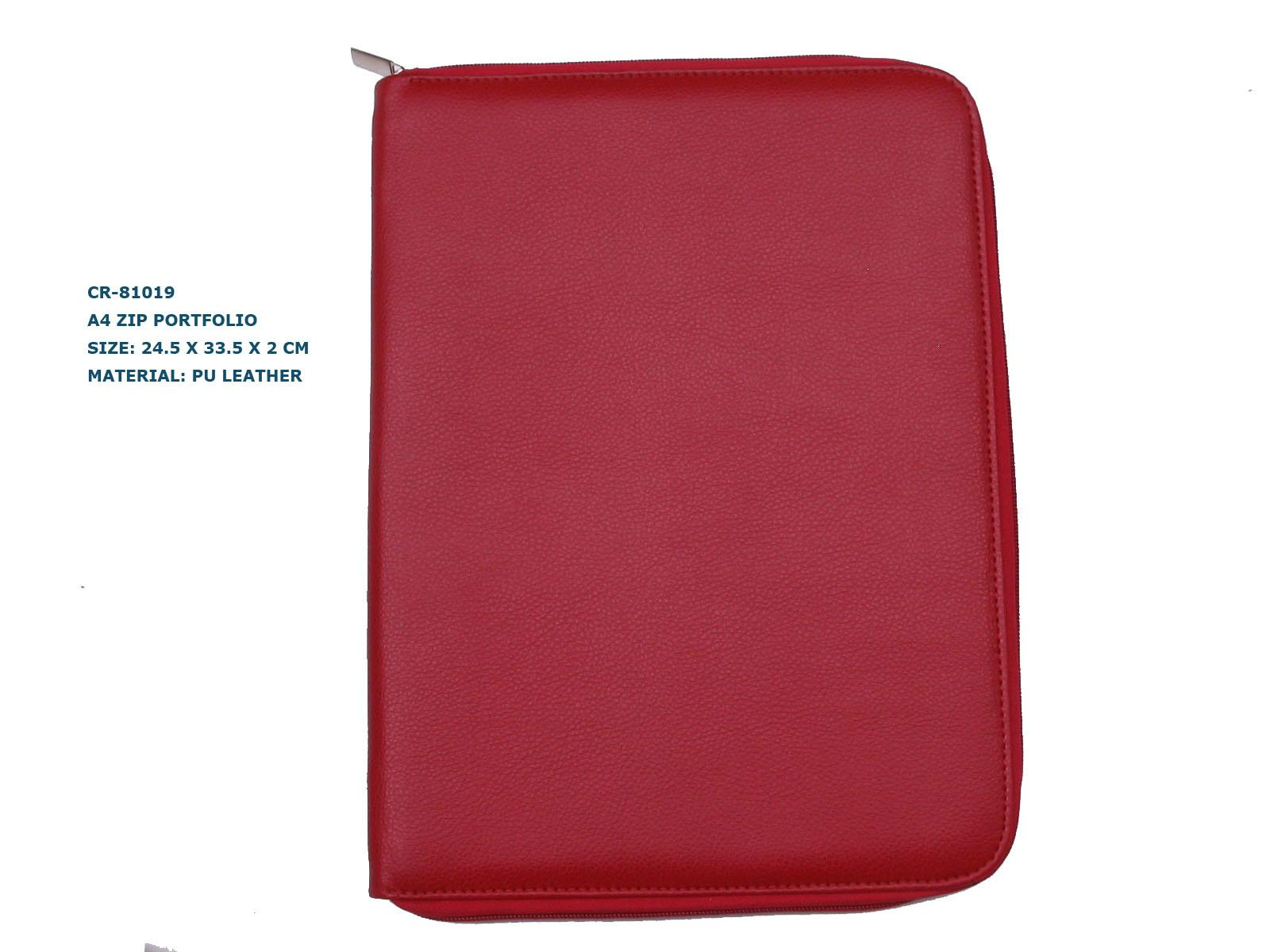 A4 Pu leather zip portfolio item: CR-81019 2