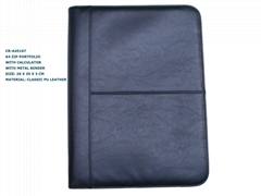 3 rings binder A4 business portfolio bag with calculator item:CR-A45167