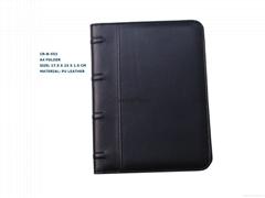 A4 PU manu folder hotel restaurant file folder with well quality Item:CR-B-533