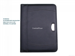 A4 folder with calculater OEM portfolio customized Logo accepted