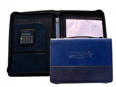2 rings binder briefcase embossed logo with calculator Item:CR-YX12