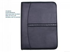 zip brief case business portfolio bag embossed personized logo