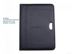 A4 folder with calculator OEM portfolio customized Logo accepted