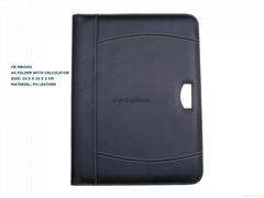 A4 folder with calculator OEM portfolio customized Logo accepted