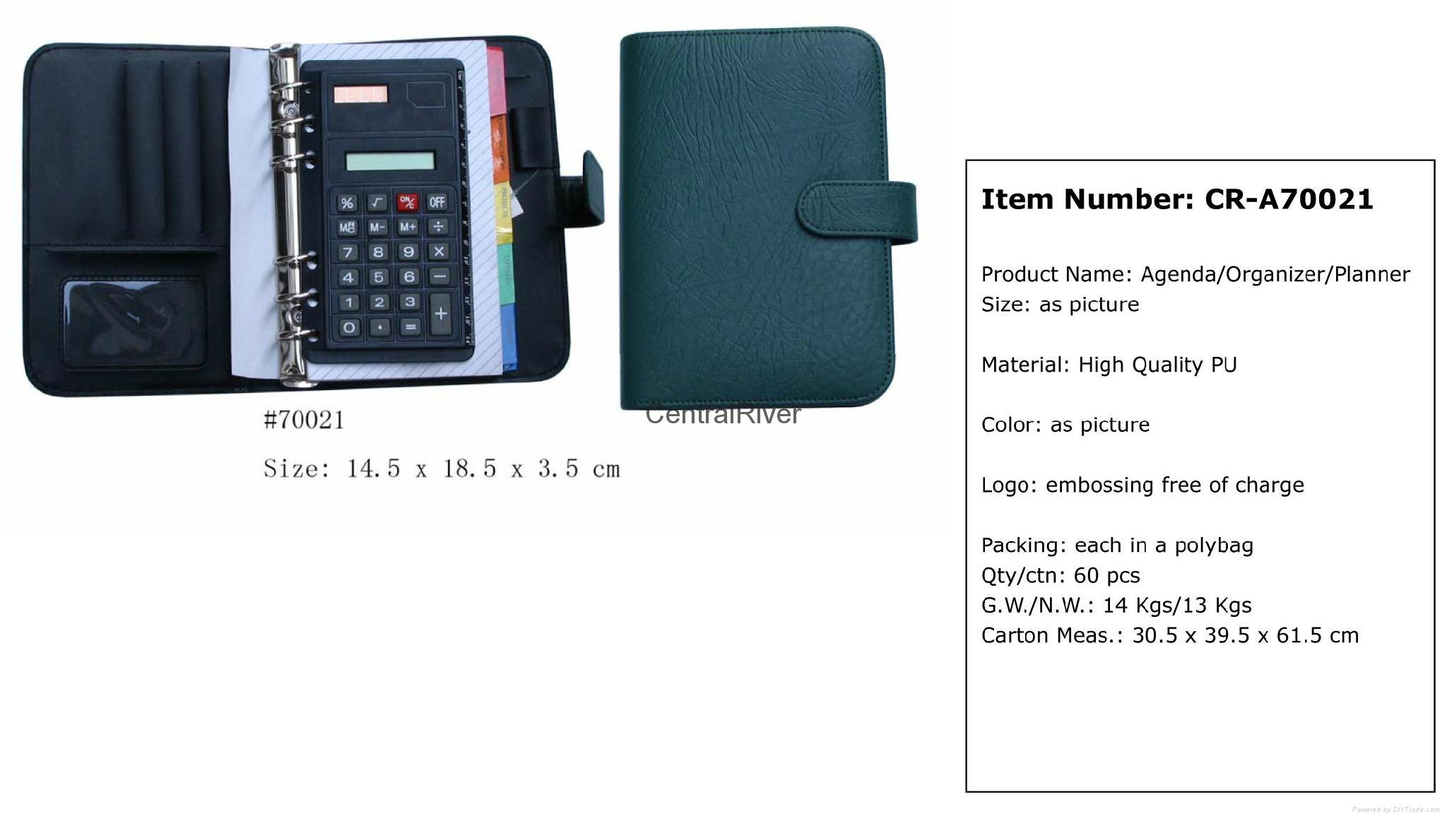 Agenda planner ring binder with calculator  1