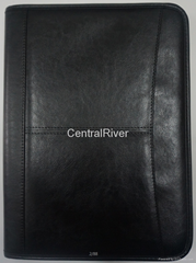 A4 Pu leather zip portfolio item: CR-001