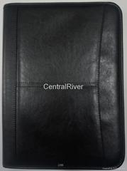 A4 Pu leather zip portfolio item: CR-001