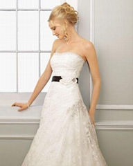 Sweetheart Strapless Lace Cathedral