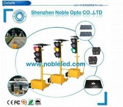 Solar Traffic Warning Light &Road Safety Directional Portable Traffic Light