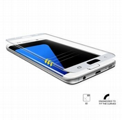 0.26mm 3D Curved Full Cover Tempered Glass Screen Protector For  Galaxy S7 Edge