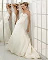 A-line Sweetheart Cathedral Train Satin Beading Wedding Dress supplier 3