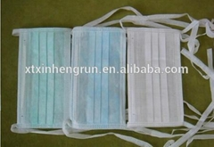 Disposable non woven face mask with tie on