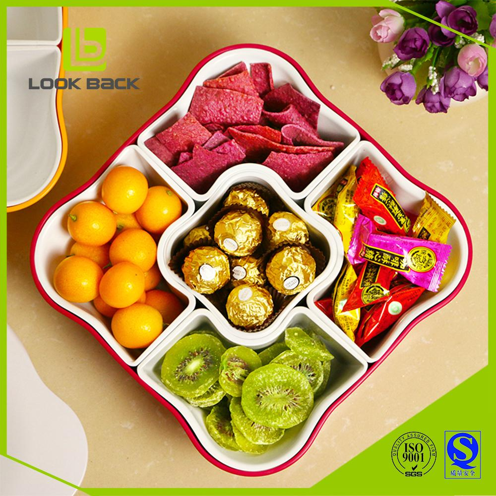 home decor dry fruits nuts tray with 5 compartments 1