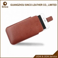 Universal mobile phone pouch sleeve style leather cell phone cases and pouches m