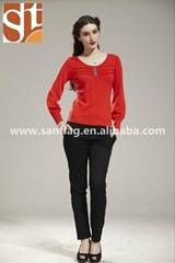Knitted Women Sweater Pullover