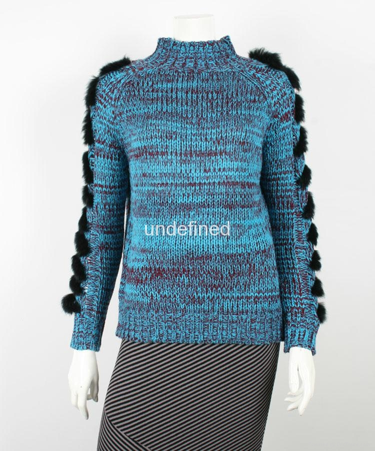 Lady's Long Sleeve Turtle Neck Sweater 1