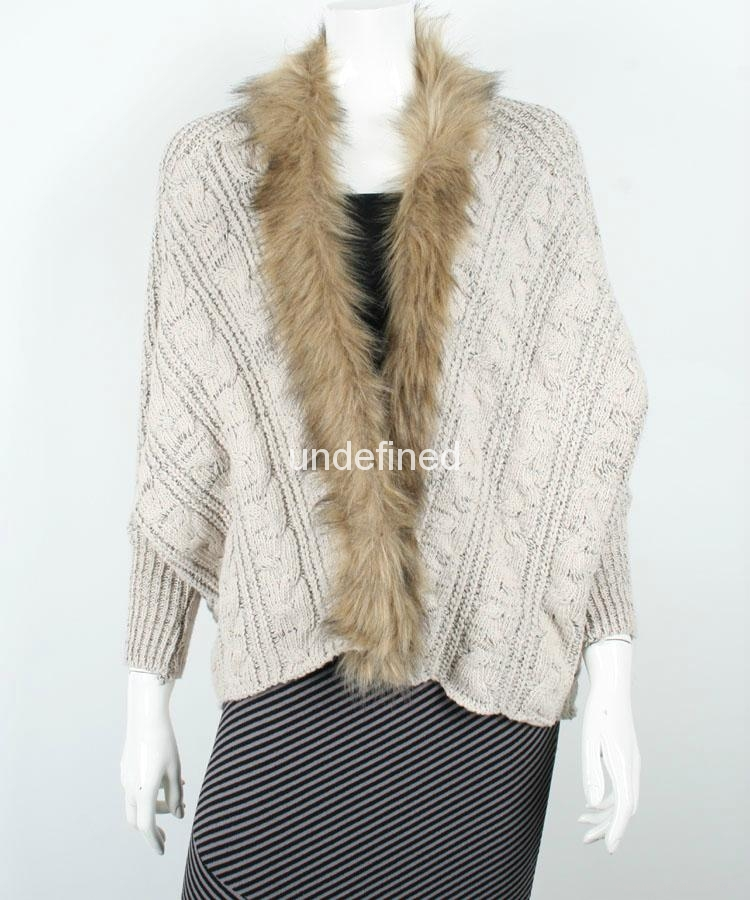 Ladies Latest Design Cable Knitted Winter Cardigan 1