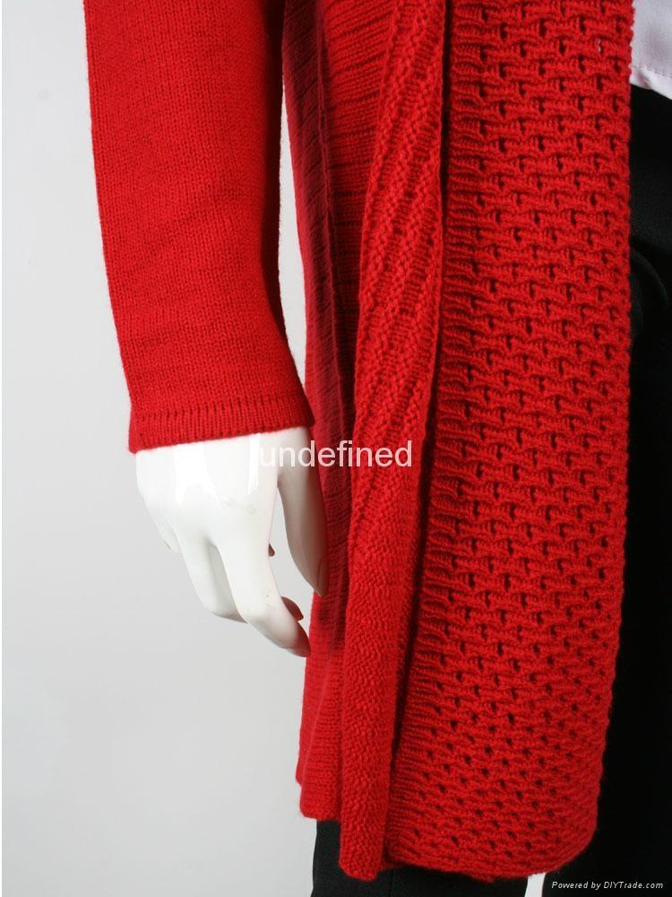 Wholesale Colorful Women Long Cardigan Sweater 4