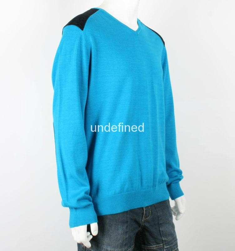 New Design Men Knitted 100% Cotton Sweater 3