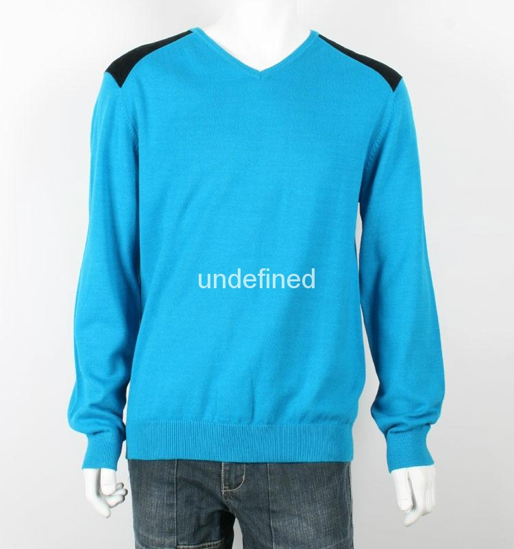 New Design Men Knitted 100% Cotton Sweater 1
