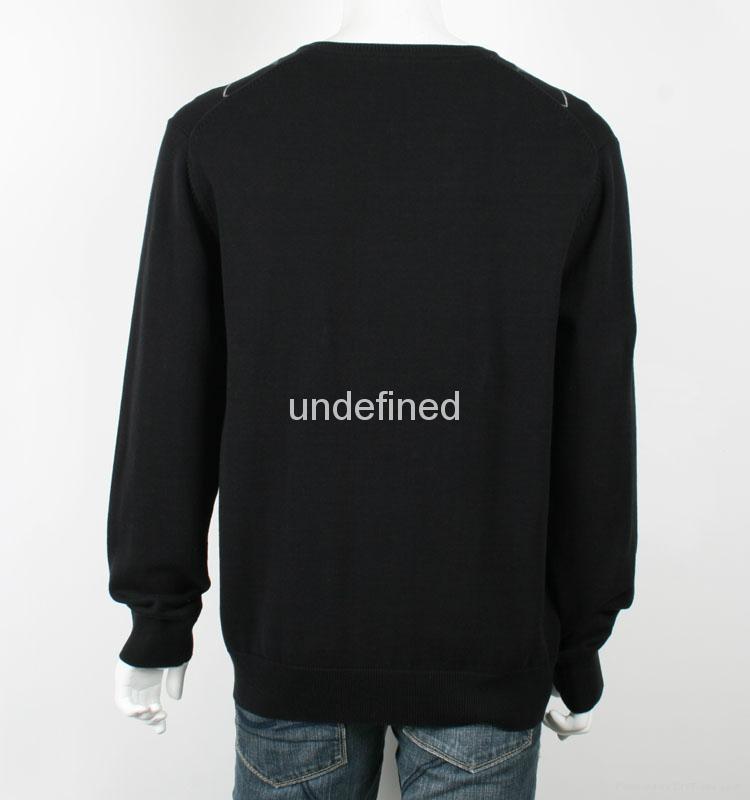 Men's V neck Thin Argyle Sweater 3