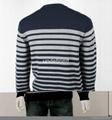 Men's V neck Striped Sweater 2