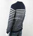 Men's V neck Striped Sweater 4