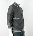 Light Weight Full Zip Grey Knit Cardigan For Men 2