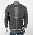 Light Weight Full Zip Grey Knit Cardigan For Men 3
