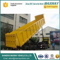 China 2axle 3axle 4axle dump tipper semi truck trailer Sale price
