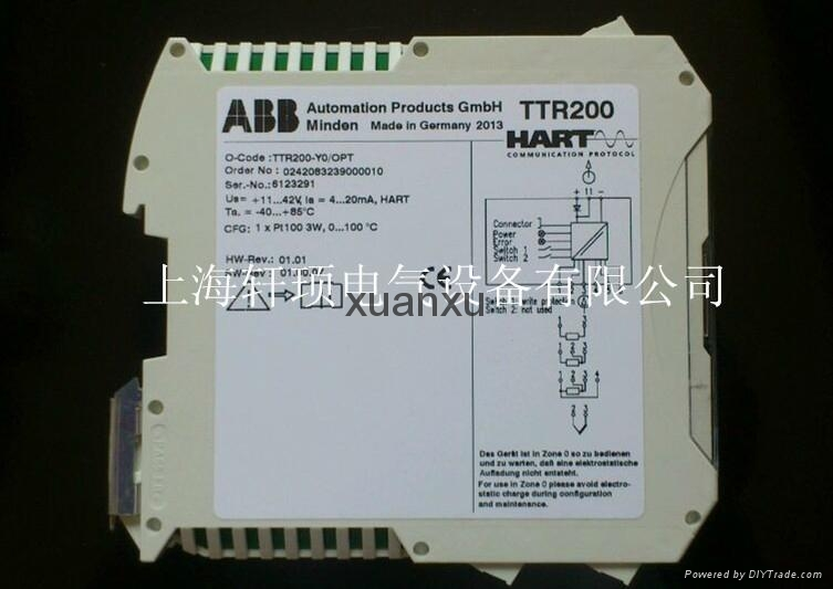 abb压力变送器选型_TTR200导轨安装温度变送器ABB-HART - TTR200/OPT (中国 上海市 贸易商 ...