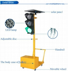 New! 200mm 4 way Portable Traffic Light with Solar Power