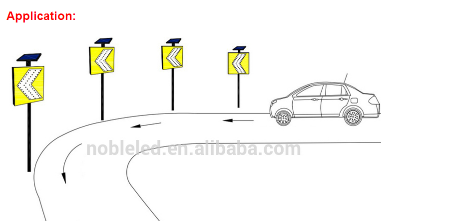 Wireless Led Traffic Guidance Arrow Sign with Solar Panel 2