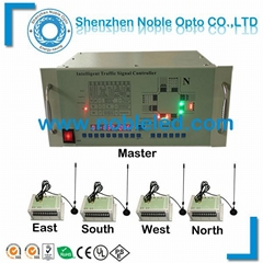 wireless intelligent traffic light controller with loop detector and GPS