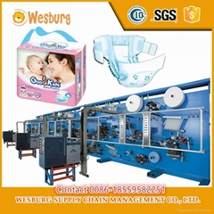Full servo automatic baby diaper pampering making machine