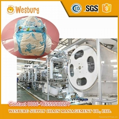 Wholesler best selling disposable baby diaper machine price