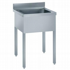 heavy duty single bowl kitchen sink with upstand and adjustable legs