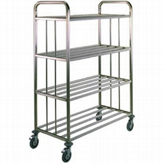 Kitchen Distribution Open Stacking Trolley with Side Protection for Insulated Tr