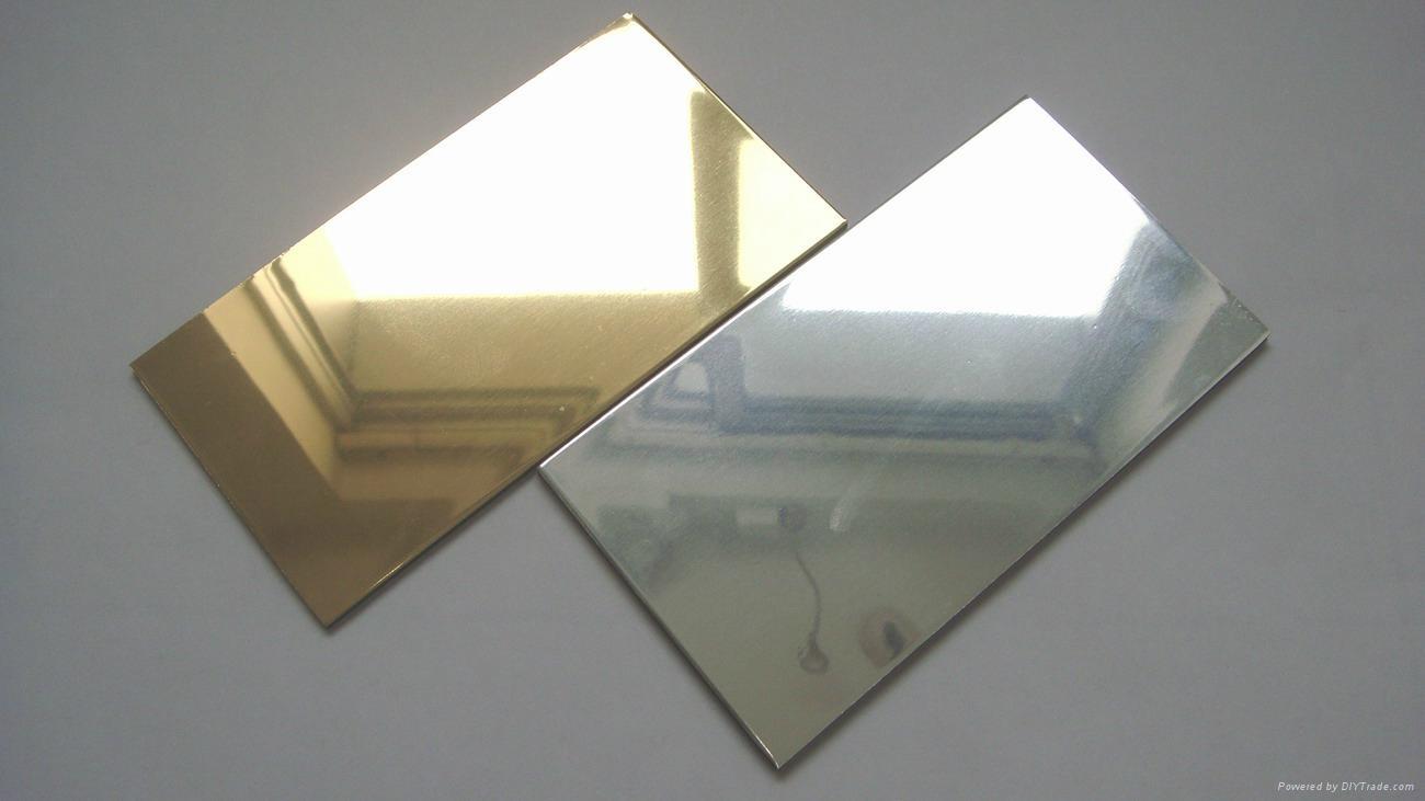 3mm 1220mmx2440mm Gold Silver Bronze Mirror Aluminum