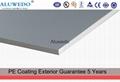 Surface Applied Aluminum Composite Panel : Mm anodizing surface interior decorative panel aluminum