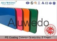 4mm PE Solid color aluminum composite panel interior or exterior ACP ACM