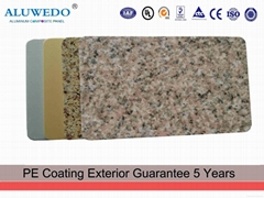 4mm PE PVDF ACP ACM Marble Grain Aluminum Composite Wall Panels
