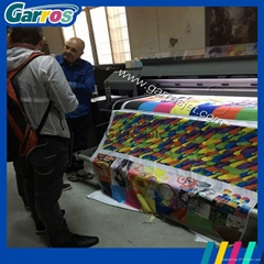 1.6m wide format textile fabric printer belt type flatbed printing machine