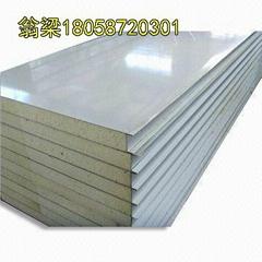 供应甘蓝彩钢聚氨酯夹芯板隔热保温板