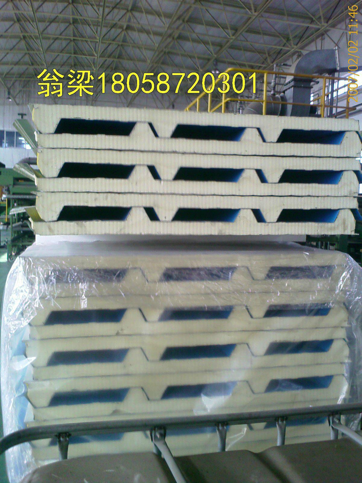 供應甘藍彩鋼聚氨酯夾芯板隔熱保溫板 5