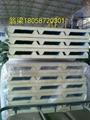 供应甘蓝彩钢聚氨酯夹芯板隔热保温板 5