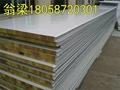 供应甘蓝彩钢岩棉夹芯板隔热保温板 5
