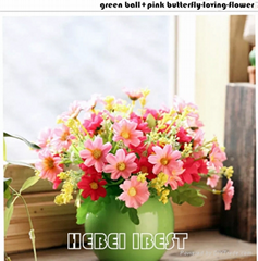 Artifical table flower with ceramic pot for home decoration
